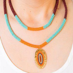 Crochet Necklaces set Accessories Handmade jewelry
